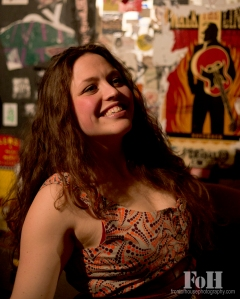 All smiles - backstage at the Legendary Horseshoe Tavern