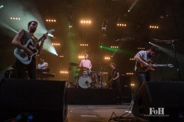July, 22, 2016 - Oro-Medonte, Ontario, Canada: UK rock band Foals perform at the Wayhome Music & arts Festival (Bobby Singh/Polaris).