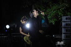 July, 23, 2016 - Oro-Medonte, Canada: UK post-punk band Savages perform a late night set at Wayhome Music & Arts Festival (Bobby Singh/Polaris).