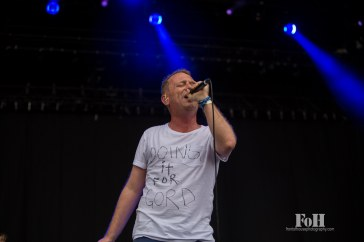 July, 24, 2016 - Oro-Medonte, Ontario, Canada: Canadian pop band STARS perform at Wayhome Music & Arts Festival, honouring Gord Downie of The Tragically Hip (Bobby Singh/Polaris).