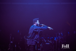 Toronto, Canada. 26th May, 2017. The Weeknd plays to a sold-out hometown crowd at The Air Canada Centre on his Starboy: Legend Of The Fall Tour. Credit: Bobby Singh/@fohphoto