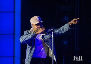 "Toronto, Canada. 30th May, 2017. Chance The Rapper performs to a sold-out crowd at The Budweiser Stage on his ""Be Encouraged"" tour. Credit: Bobby Singh/@fohphoto"
