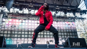 Jazz Cartier performing at Wayhome Music & arts Festival - photo by Dawn Hamilton/@minismemories