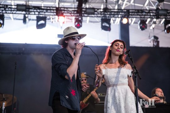 Foxygen performing live at Panorama Festival in New York City