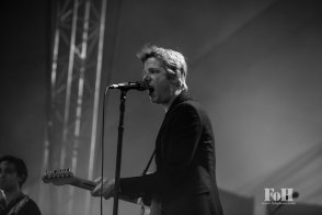 Spoon performing live at Panorama Festival in New York City