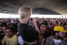 MØ performing live at Panorama Festival in New York City