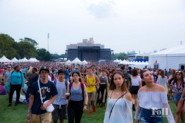crowds at Panorama Festival in New York City
