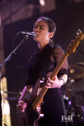 Mitski performing at Panorama in New York City