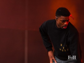 Vince Staples performing at Panorama in New York City