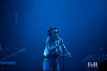 Jamila Woods performing live at Panorama Fest in New York City