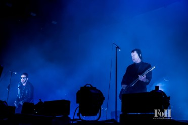 Nine Inch Nails performing at Panorama in New York City