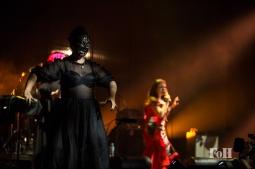 Tanya Tagaq performs at the 2017 Polaris Music Prize Gala, accompanied by Laakuluk Williamson Bathory