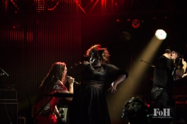 Tanya Tagaq performs at the 2017 Polaris Music Prize Gala, accompanied by Laakuluk Williamson Bathory