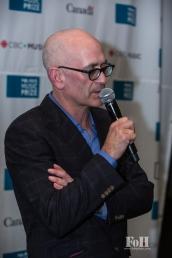 CEO Steve Jordan backstage at The 2017 Polaris Music Prize Gala