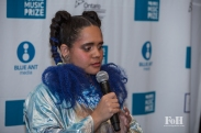 Winner Lido Pimienta addresses the press backstage at The 2017 Polaris Music Prize Gala