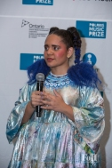 Winner Lido Pimienta addresses the press backstage at The 2017 Polaris Music Prize Gala